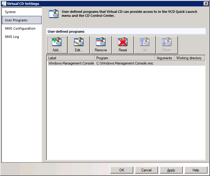 Virtual CD v10 Network Management Server